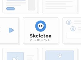 Skeleton Wireframing Kit 完美的原型,故事板和用户流