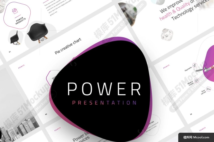 Power Presentation 120+独特的Keynote和Powerpoint幻灯片