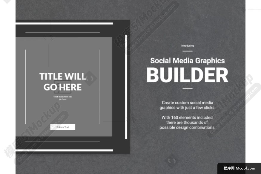 Social Media Graphics Builder 平面排版图形制作