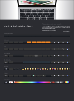 Macbook Pro Touch Bar Starter Kit