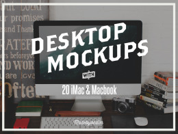 Mac Screen Mockups 嘻哈iMac和MacBook屏幕模拟