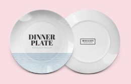 陶瓷餐盘样机 Dinner Plate Mockup for Photoshop