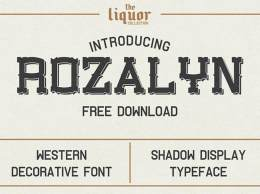 英文字体Rozalyn Shadow免费下载 – Free Font