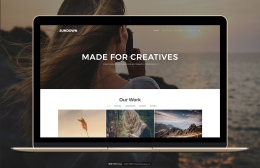 响应式网站模板 Sundown – Bootstrap Portfolio Template