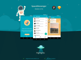 SpaceMessenger移动UI用户应用界面 Android Messenger UI Kit