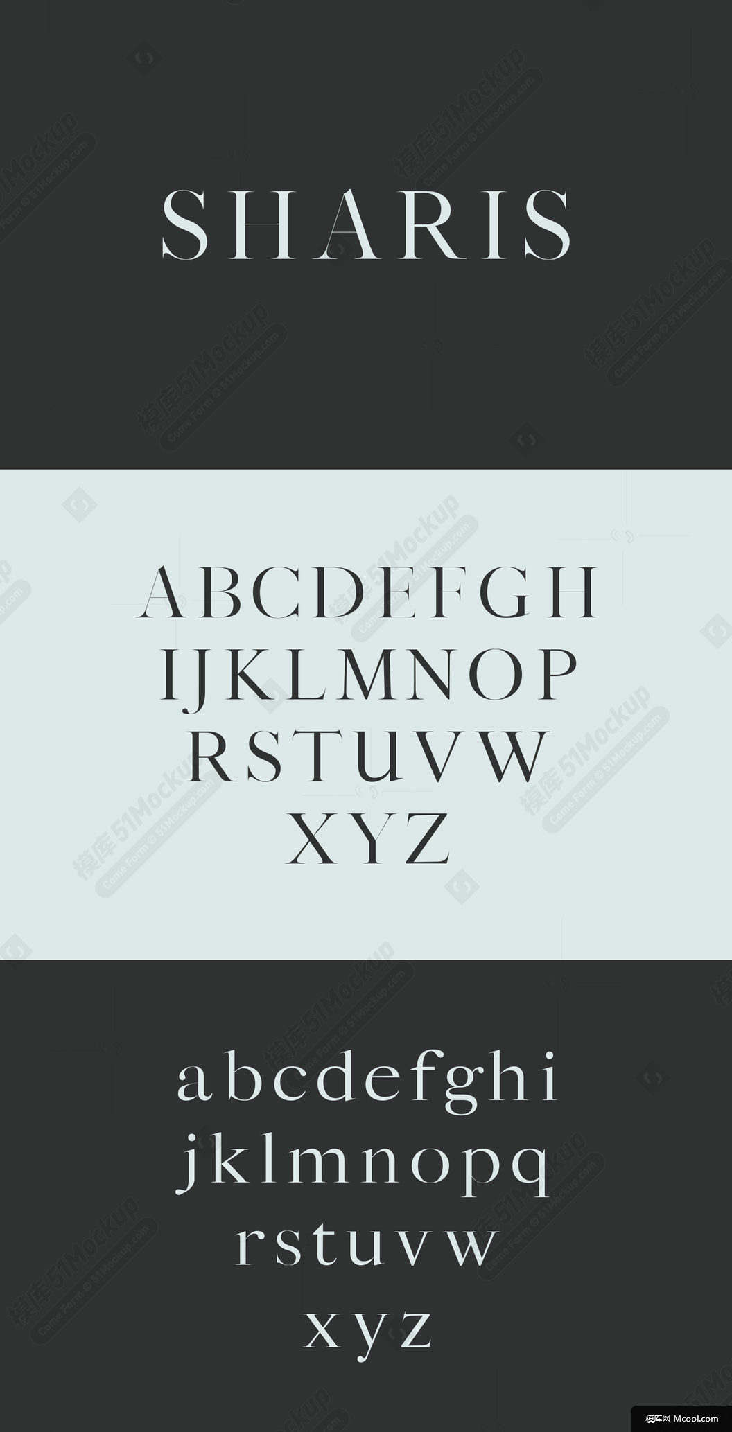 Sharis Serif Typeface Sharis 字体 -