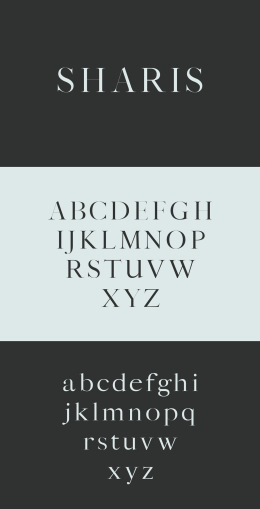 Sharis Serif Typeface Sharis 字体