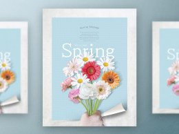 春季春天韩式唯美小清新海报PSD模板Korean spring air beauty poster PSD template Vol.11