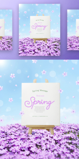 春季春天韩式唯美小清新海报PSD模板Korean spring air beauty poster PSD template Vol.21