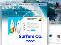 Surfers Co. - Bootstrap-ready PSD模板