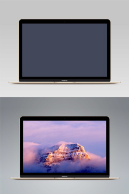 矢量MacBook Gold Vector MacBook Gold