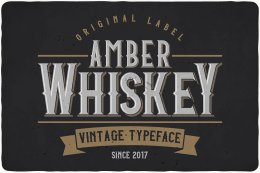 琥珀威士忌字体 Amber Whiskey Typeface
