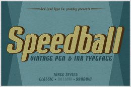 圆体和墨水字体 Speedball Pen Ink Typeface