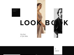 Sketch和PSD的服装网页和手机模板 LookBook Template SQUARE