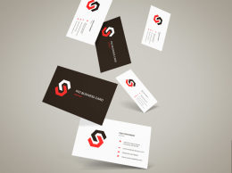 飞行名片样机Vol.12 Flying Business Cards Mockup Vol.12