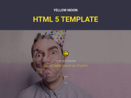 YellowMoon - 免费的HTML登陆页面 yellowmoon
