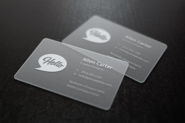 半透明名片样机 Translucent Business Cards MockU