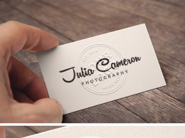 浮雕的名片样机 Embossed Business Card MockU
