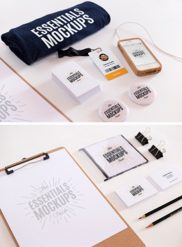 文具样机Essentials Mockups Free Set