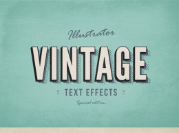 复古文字效果 3 Illustrator Vintage Text Effects