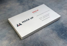 现实的名片样机2 Realistic Business Card MockUp2