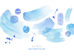 Blue Brush Watercolor 蓝色笔刷素材 ti246a6403