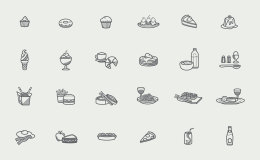Foody Icons UI设计 矢量素材 图标设计 sketch