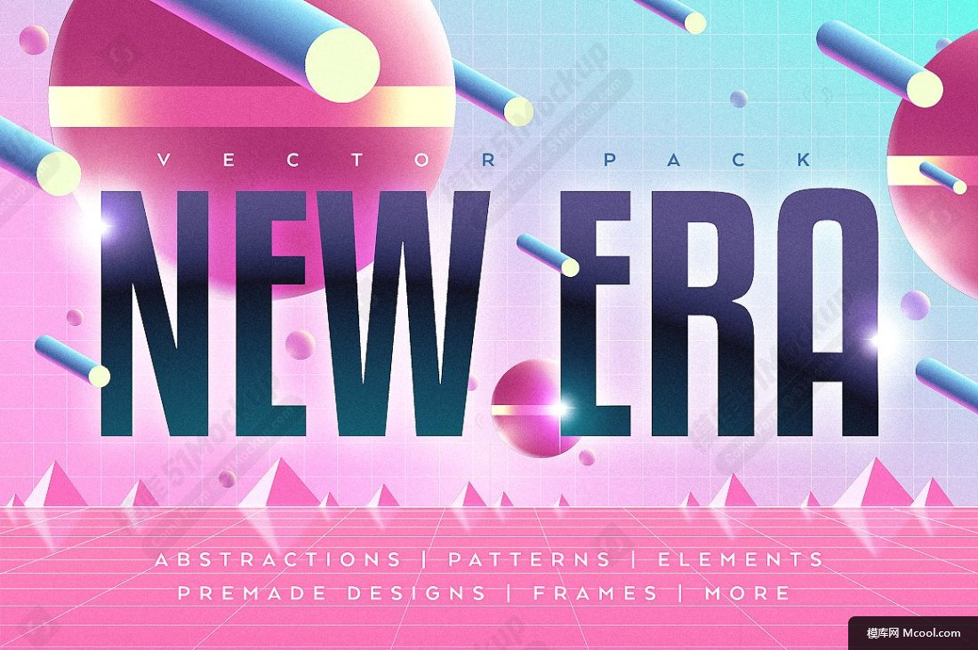3D立体几何图形包 NEW ERA. Vector Graphic Pack -