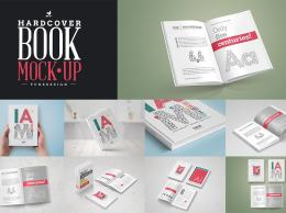 精装书设计展示样机 Book Mock-Up Set / Hardcover Edition