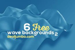 抽象或波浪式3D背景图集 6 Free Wave 3D Backgrounds 2