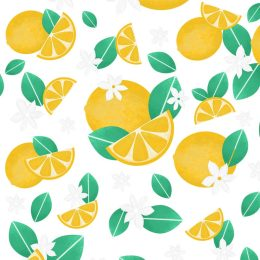 高清柠檬图案纹理插件 Seamless Textured Lemon Pattern [PAT]