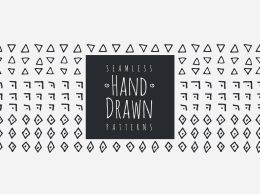 手绘图形素材包 Seamless Hand Drawn Patterns