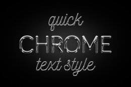 Chrome 字体文本特效 Chrome text effect