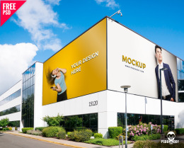 户外广告牌样机 Outdoor Advertising Mockup