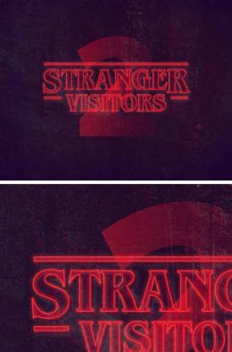 一个很赞的字体效果 Stranger Things PS Text Style