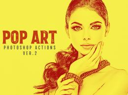 20个流行艺术的PS动作 20 Pop Art Photoshop Actions Ver. 2