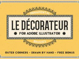 复古手绘Ai笔刷 Le Decorateur Ornamental Brushes