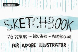 有趣的Ai笔刷 Sketchbook Brushes for Illustrator