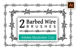 铁丝网图形AI笔刷 Barbed Wire Brushes for Illustrator