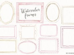 水彩框图形 Watercolor Frames