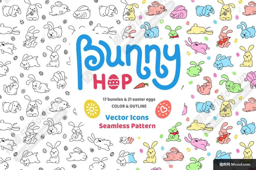 兔子跳图标及复活节彩蛋纹理素材集合 Bunny Hop Icons And Seamless Pattern9ed8918a0260ce995c5bac976a44bedd.jpg