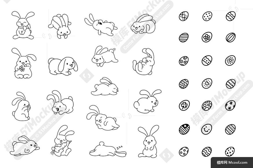 兔子跳图标及复活节彩蛋纹理素材集合 Bunny Hop Icons And Seamless Pattern83e8accd35afaef7fef3a16b8f0b51c0.jpg