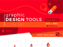 100个图形设计工具图标合集 Graphic Design Tools Icons [svg, png]