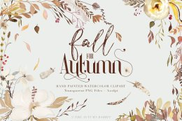 秋天主题水彩剪切画 Fall for Autumn – Watercolor Clipart