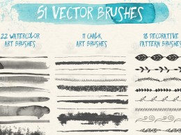 51个AI矢量笔刷 51 Free Vector Brushes