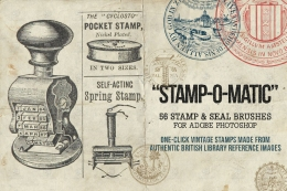 复古印章及戳笔刷套件 Free Vintage Stamp & Seal Brush Set