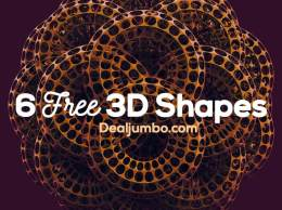 3D抽象图形集 6 Free Abstract 3D Shapes 3