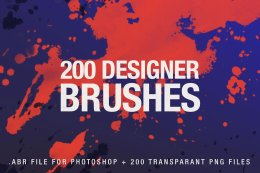 200个创意图案 PS 笔刷 200 Designer Brushes for Photoshop