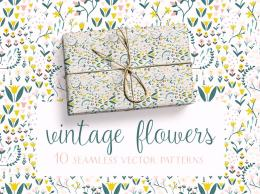 古典花卉图案素材包 Vintage Flowers Pattern Collection