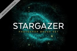 太空星云笔刷集 Stargazer Photoshop Brush Set(10种形状)